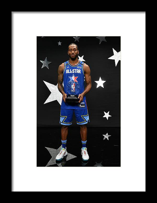 Nba Pro Basketball Framed Print featuring the photograph Kawhi Leonard and Kobe Bryant by Jesse D. Garrabrant