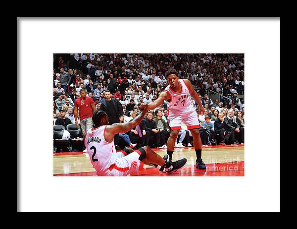 Playoffs Framed Print featuring the photograph Kawhi Leonard and Kyle Lowry by Jesse D. Garrabrant