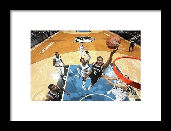 Nba Pro Basketball Framed Print featuring the photograph Kawhi Leonard by David Sherman