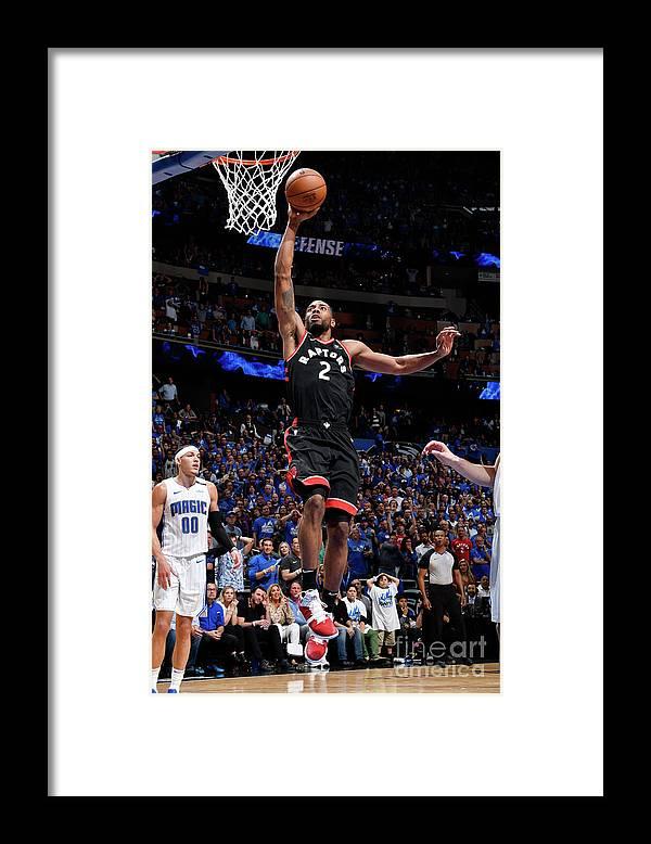 Playoffs Framed Print featuring the photograph Kawhi Leonard by Fernando Medina