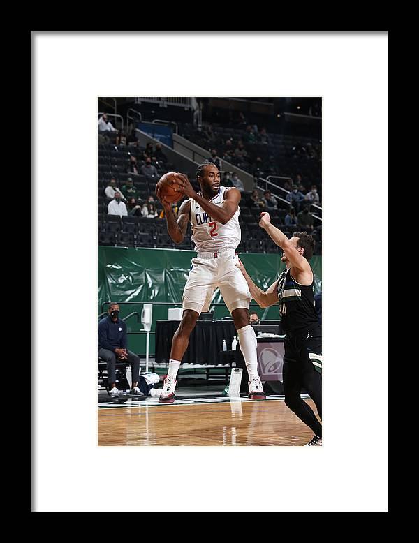 Nba Pro Basketball Framed Print featuring the photograph Kawhi Leonard by Gary Dineen