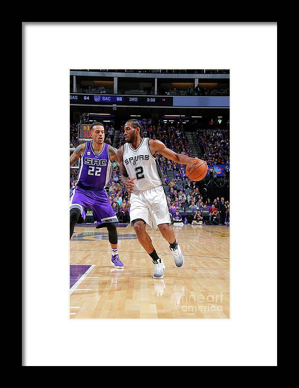 Nba Pro Basketball Framed Print featuring the photograph Kawhi Leonard by Rocky Widner