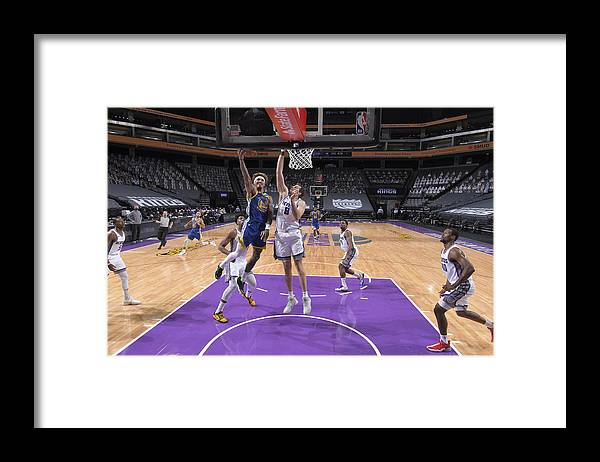 Nba Pro Basketball Framed Print featuring the photograph Kelly Oubre and Nemanja Bjelica by Rocky Widner