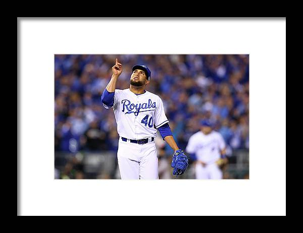Game Two Framed Print featuring the photograph Kelvin Herrera by Elsa