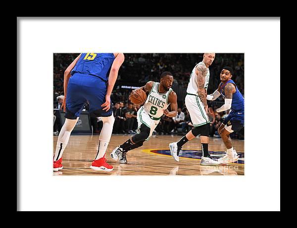 Kemba Walker Framed Print featuring the photograph Kemba Walker by Garrett Ellwood