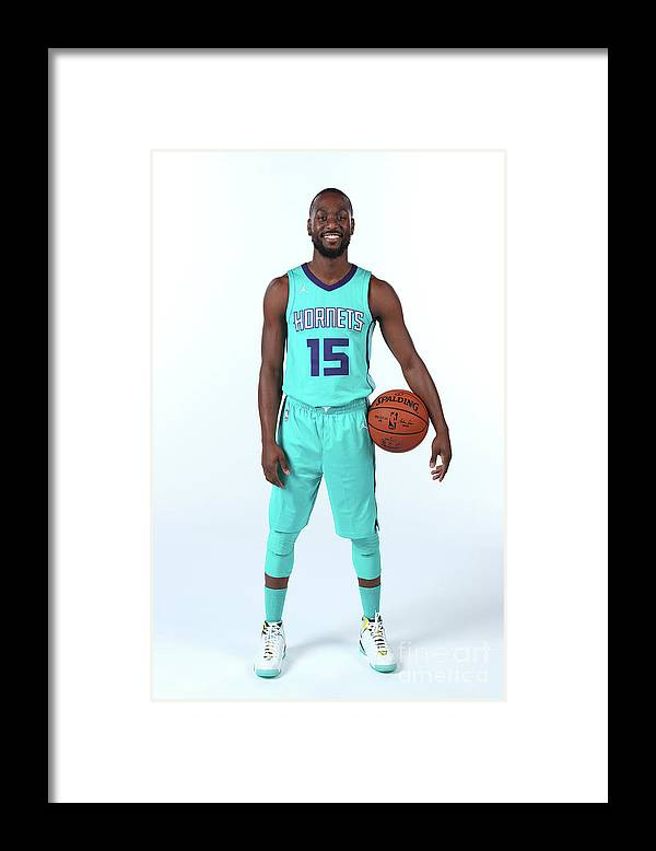 Media Day Framed Print featuring the photograph Kemba Walker by Kent Smith
