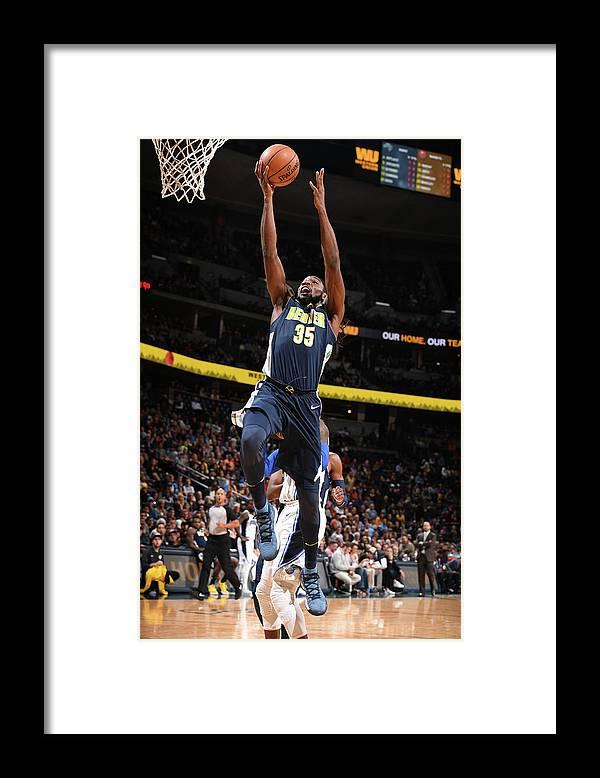 Nba Pro Basketball Framed Print featuring the photograph Kenneth Faried by Garrett Ellwood