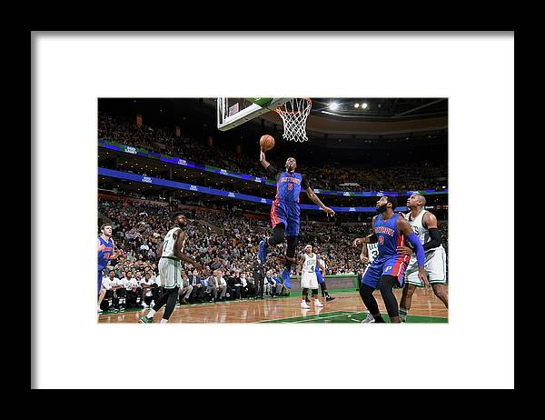 Nba Pro Basketball Framed Print featuring the photograph Kentavious Caldwell-pope by Brian Babineau