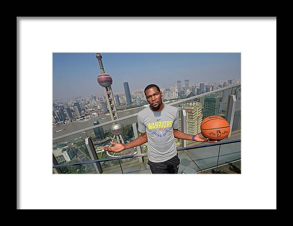 Event Framed Print featuring the photograph Kevin Durant by David Dow