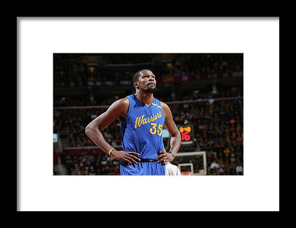 Nba Pro Basketball Framed Print featuring the photograph Kevin Durant by David Sherman