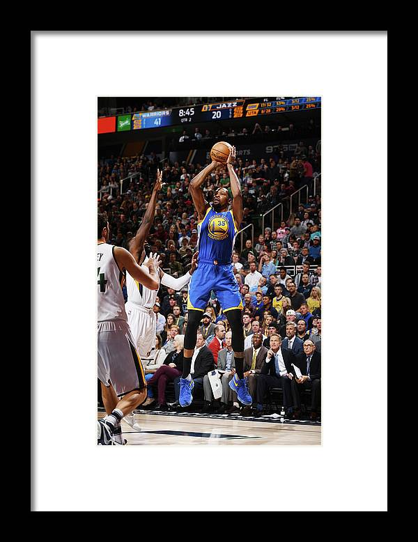 Nba Pro Basketball Framed Print featuring the photograph Kevin Durant by Garrett Ellwood