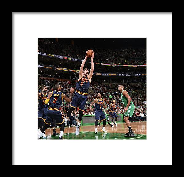 Nba Pro Basketball Framed Print featuring the photograph Kevin Love by Brian Babineau