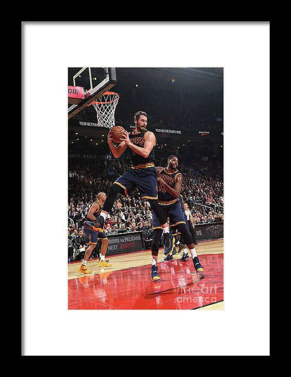 Nba Pro Basketball Framed Print featuring the photograph Kevin Love by Ron Turenne