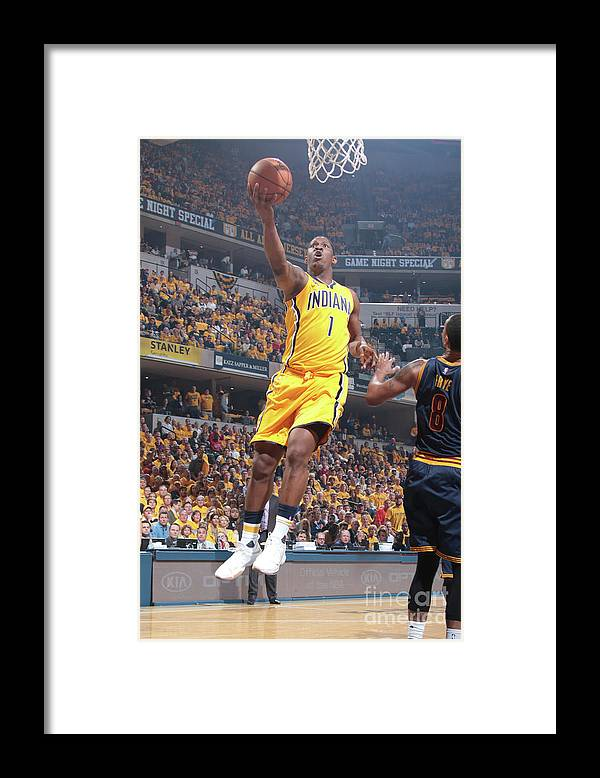 Playoffs Framed Print featuring the photograph Kevin Seraphin by Ron Hoskins