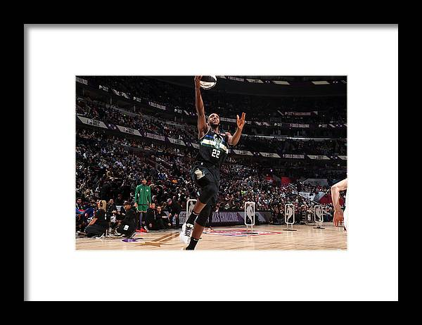Nba Pro Basketball Framed Print featuring the photograph Khris Middleton by Nathaniel S. Butler