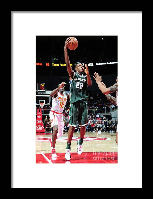 Atlanta Framed Print featuring the photograph Khris Middleton by Scott Cunningham