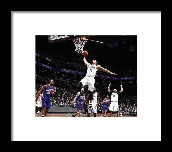 Nba Pro Basketball Framed Print featuring the photograph K.j. Mcdaniels by Nathaniel S. Butler