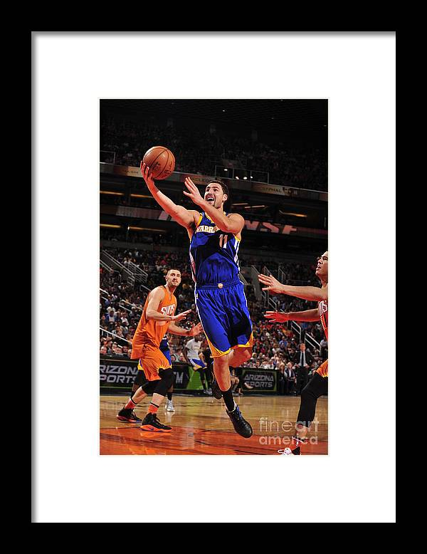 Nba Pro Basketball Framed Print featuring the photograph Klay Thompson by Barry Gossage