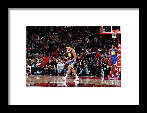 Nba Pro Basketball Framed Print featuring the photograph Klay Thompson by Jeff Haynes