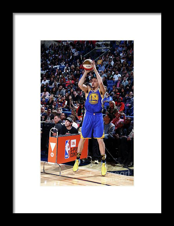 Event Framed Print featuring the photograph Klay Thompson by Nathaniel S. Butler