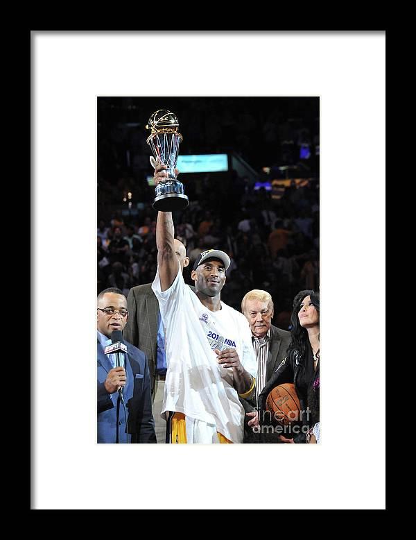 Playoffs Framed Print featuring the photograph Kobe Bryant by Jesse D. Garrabrant