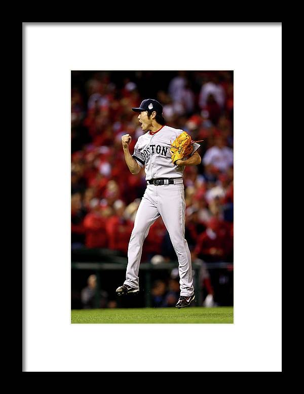 Ninth Inning Framed Print featuring the photograph Koji Uehara by Elsa
