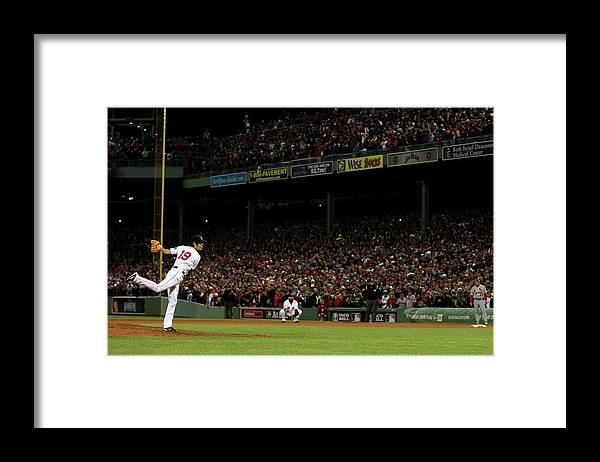 Playoffs Framed Print featuring the photograph Koji Uehara by Rob Carr