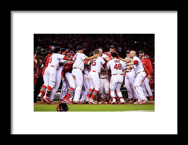 St. Louis Cardinals Framed Print featuring the photograph Kolten Wong by Jamie Squire