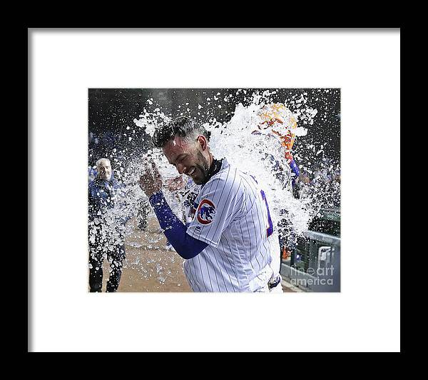 People Framed Print featuring the photograph Kris Bryant and Javier Baez by Jonathan Daniel
