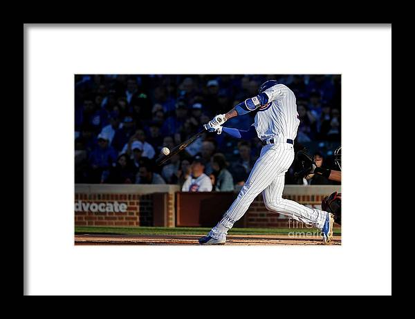 People Framed Print featuring the photograph Kris Bryant by Jon Durr