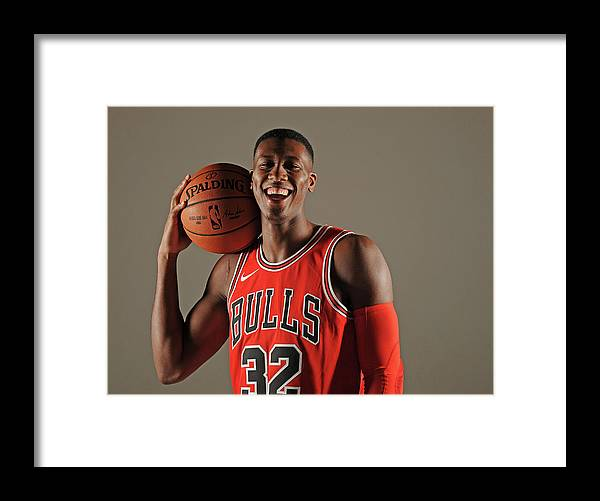 Media Day Framed Print featuring the photograph Kris Dunn by Randy Belice
