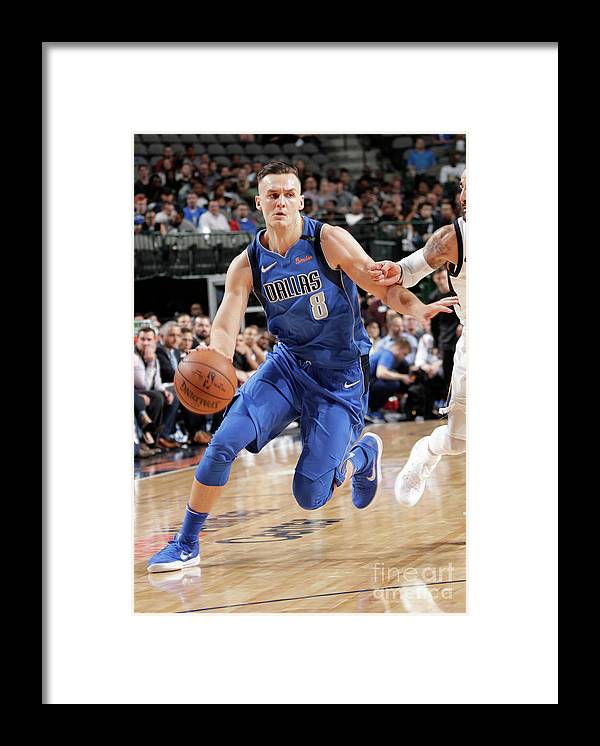 Sports Ball Framed Print featuring the photograph Kyle Collinsworth by Glenn James