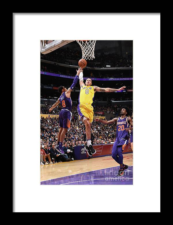 Nba Pro Basketball Framed Print featuring the photograph Kyle Kuzma by Andrew D. Bernstein
