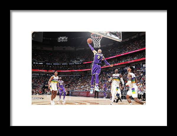 Smoothie King Center Framed Print featuring the photograph Kyle Kuzma by Nathaniel S. Butler