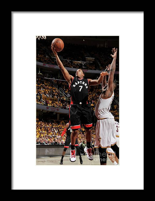 Playoffs Framed Print featuring the photograph Kyle Lowry by David Liam Kyle