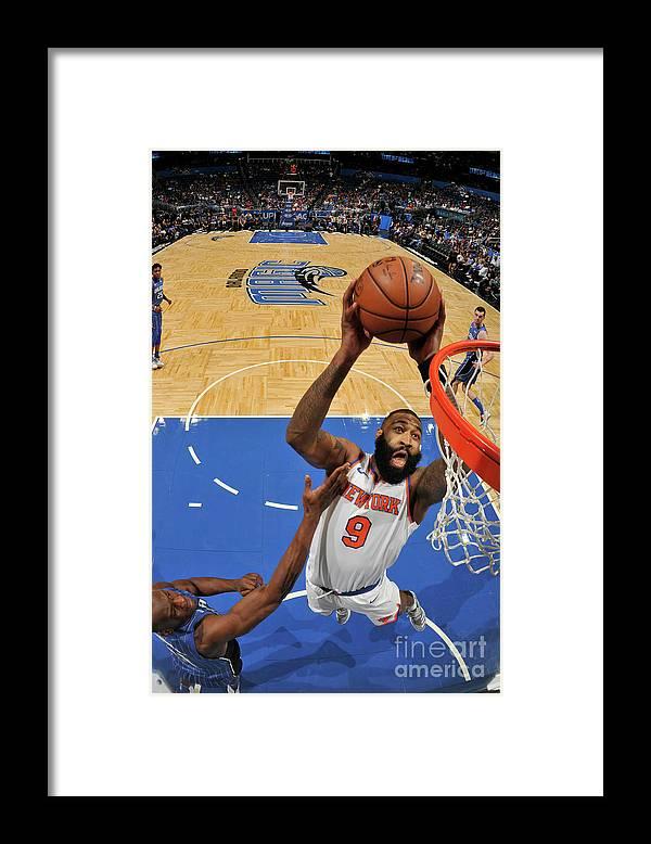 Nba Pro Basketball Framed Print featuring the photograph Kyle O'quinn by Fernando Medina