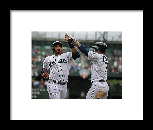 American League Baseball Framed Print featuring the photograph Kyle Seager by Otto Greule Jr