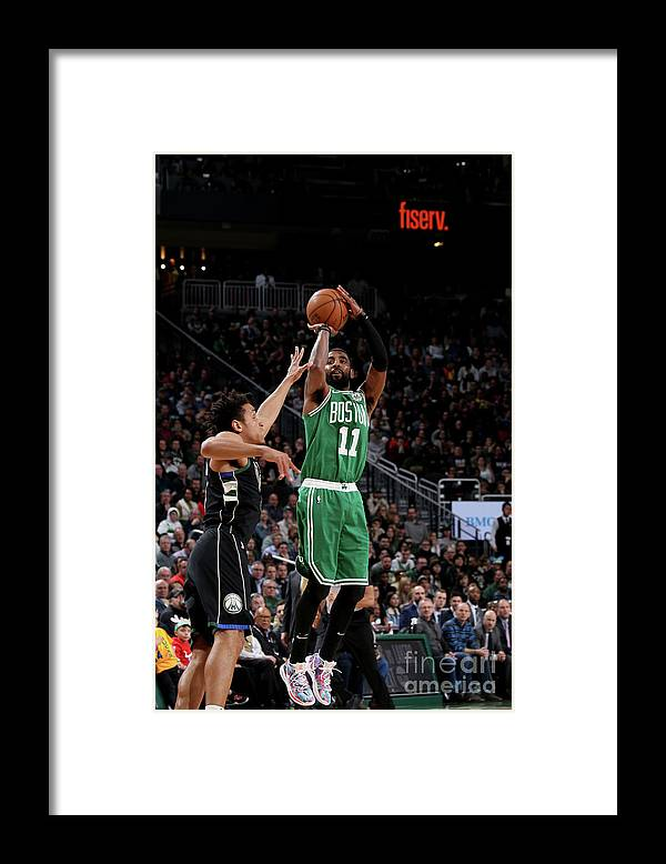 Nba Pro Basketball Framed Print featuring the photograph Kyrie Irving by Gary Dineen