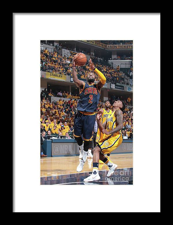 Playoffs Framed Print featuring the photograph Kyrie Irving by Ron Hoskins