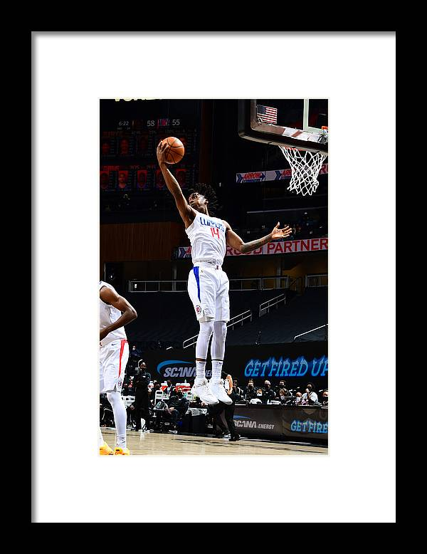 Atlanta Framed Print featuring the photograph LA Clippers v Atlanta Hawks by Scott Cunningham