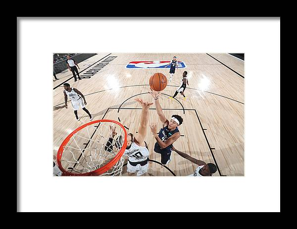Playoffs Framed Print featuring the photograph LA Clippers v Dallas Mavericks - Game Four by Joe Murphy