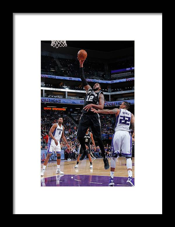 Nba Pro Basketball Framed Print featuring the photograph Lamarcus Aldridge by Rocky Widner