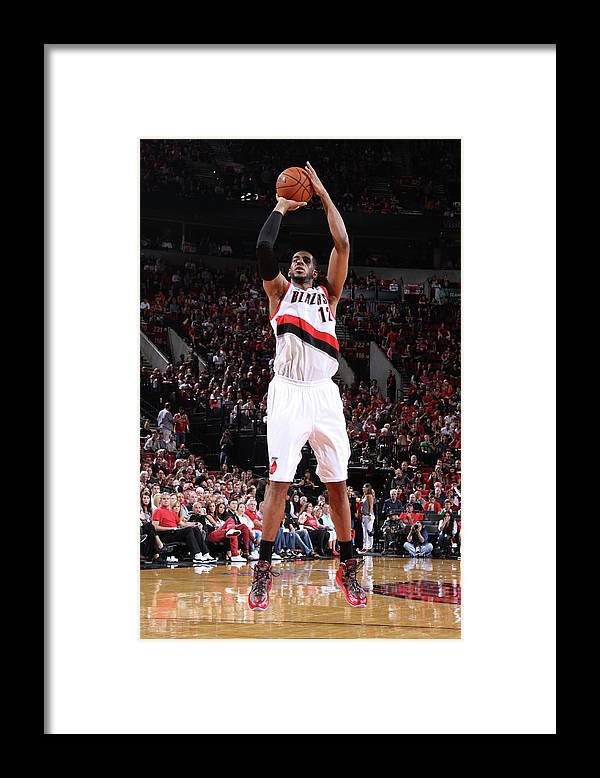 Playoffs Framed Print featuring the photograph Lamarcus Aldridge by Sam Forencich