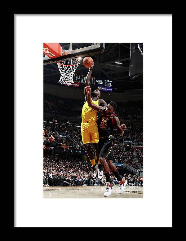 Playoffs Framed Print featuring the photograph Lance Stephenson by Nathaniel S. Butler