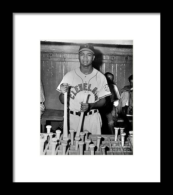American League Baseball Framed Print featuring the photograph Larry Doby by National Baseball Hall Of Fame Library