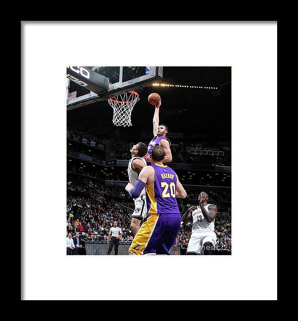 Nba Pro Basketball Framed Print featuring the photograph Larry Nance by Nathaniel S. Butler