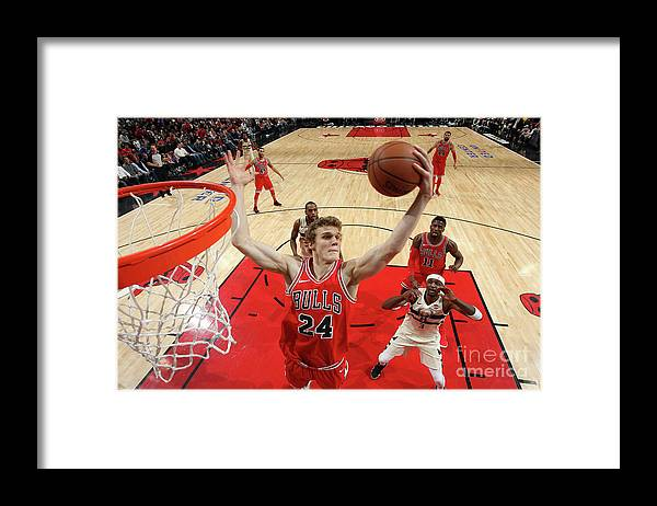 Chicago Bulls Framed Print featuring the photograph Lauri Markkanen by Gary Dineen
