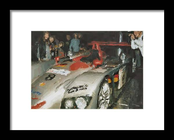 Le Mans Framed Print featuring the mixed media Le Mans by Asbjorn Lonvig