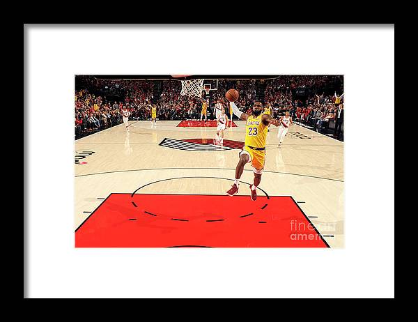 Nba Pro Basketball Framed Print featuring the photograph Lebron James by Cameron Browne