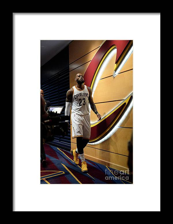 Playoffs Framed Print featuring the photograph Lebron James by David Dow